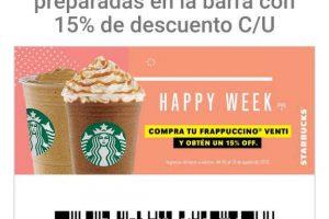 Starbucks - Cupón 15% de descuento en Frappucino Venti