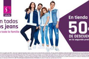 Suburbia: Todos los Jeans con 50% de descuento en segunda compra