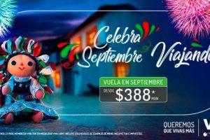 Promoción Viva Aerobus Mes Patrio viaja en septiembre desde $388 vuelo sencillo