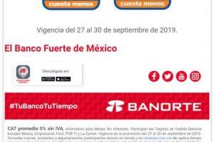 Chedraui: 10% de bonificación y 6 meses sin intereses con Banorte