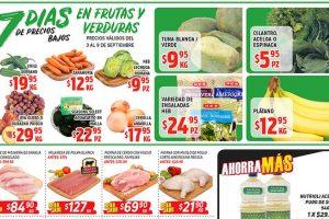 HEB frutas y verduras del 3 al 9 de septiembre 2019