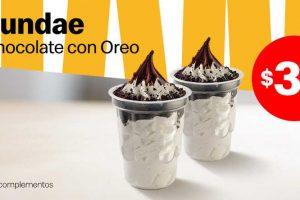 Mcdonald's: Cupón 2 Sundaes de Chocolate con Oreo a sólo $35