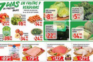 HEB frutas y verduras del 24 al 30 de septiembre 2019