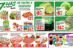 HEB frutas y verduras del 17 al 23 de septiembre 2019