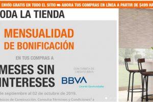 The Home Depot: 1 mes de bonificacion a 12 meses con BBVA Bancomer