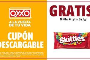 Oxxo: Gratis Skittles Original 54.4gr descargando cúpon