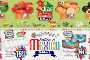 Frutas y Verduras S-Mart del 3 al 5 de Septiembre 2019