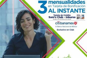 Sams Club 18 meses sin intereses + 3 de bonificación con CitiBanamex del 5 al 10 de septiembre