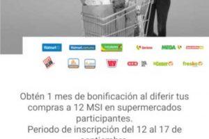 Santander: 1 mes de bonificación a 12 msi en Walmart, Soriana, Chedraui, Bodega Aurrera y más