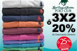 Sears: 3×2 ó 20% de descuento en playeras Polo Club para caballero