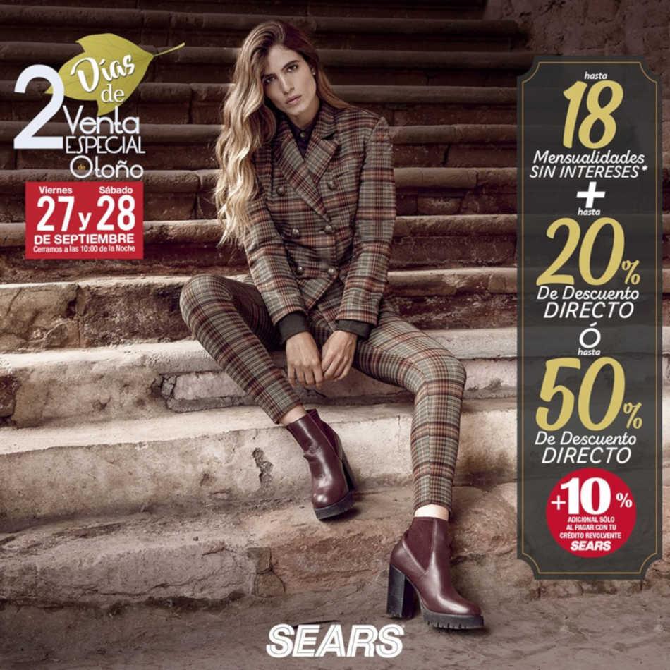 Sears: Venta Nocturna Especial de Otoño 27 y 28 de septiembre 2019