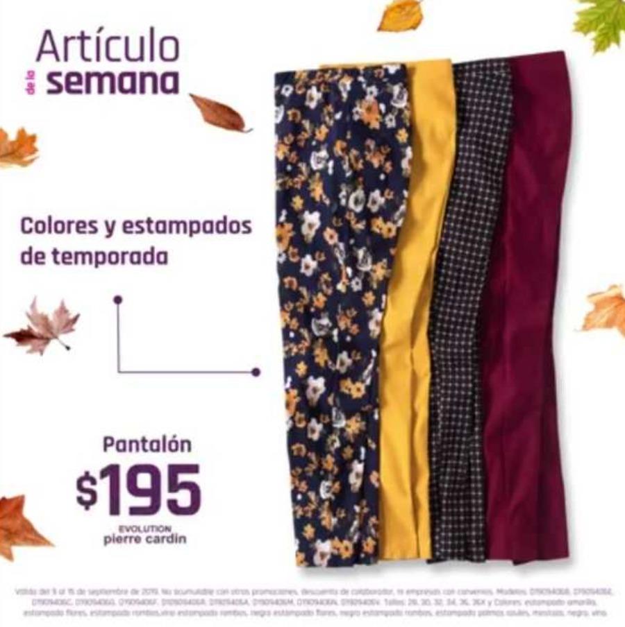 Suburbia: Articulo de la Semana pantalón para dama Evolution Pierre Cardin $195