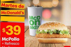 Cupones Martes de McDonalds 15 de octubre 2019