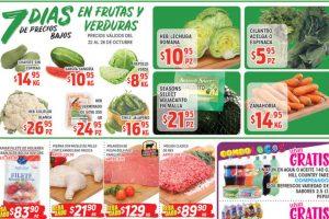 Frutas y Verduras HEB del 22 al 28 de octubre 2019