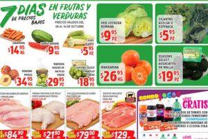 Frutas y Verduras HEB del 8 al 14 de octubre 2019