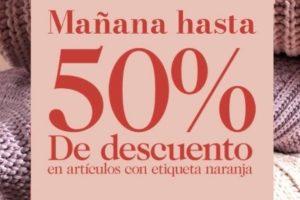 H&M Rebajas de temporada hasta 50% de descuento en artículos con etiqueta naranja