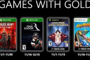 Juegos de Xbox Live Gold para Xbox One y 360 mes de noviembre 2019