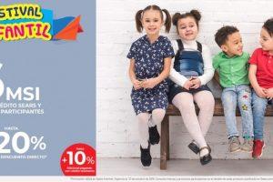 Sears Festival infantil hasta 6 msi o hasta 20% de descuento directo al 21 de octubre