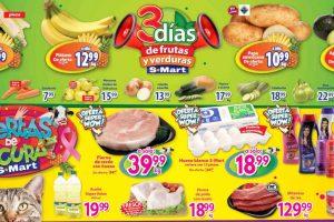 Frutas y Verduras S-Mart del 29 al 31 de octubre 2019