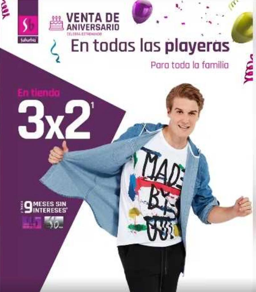Suburbia: 3×2 en playeras para toda la familia del 17 al 21 de octubre