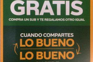 Subway: Sub Gratis en la compra de otro + cuponera 17 de Octubre 2019