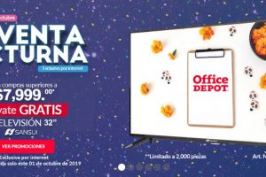 Venta Nocturna Office Depot 1 de octubre 2019