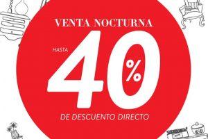 Venta Nocturna The Home Store del 4 al 6 de octubre de 2019