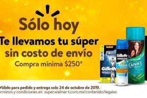 Walmart: Envío Gratis en súper Jueves 24 de Octubre 2019