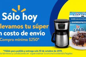 Walmart: Envío Gratis Súper Jueves 10 de Octubre 2019
