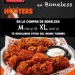 El Buen Fin 2019 en Hooters 2x1 en Boneless