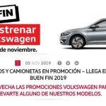 El Buen Fin 2019 en Volkswagen vehículos desde $1,999 al mes