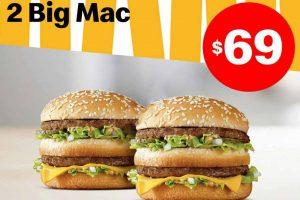 Promoción McDonald's Buen Fin 2019: 2 Hamburguesas Big Mac $69