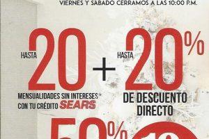 Venta Nocturna Sears Navideña 2019: hasta 50% de descuento + MSI