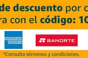 Amazon México: $100 de descuento con tarjetas Amex y Banorte
