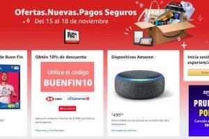 Amazon México ofertas Buen Fin 2019 del 15 al 18 de noviembre