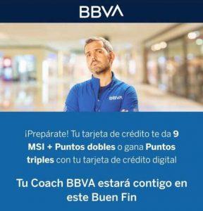 BBVA Bancomer Buen Fin 2019: 9 MSI + Puntos Dobles y Triples Online