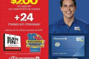 Best Buy Buen Fin 2019: $200 en cupones + hasta 24 msi con Citibanamex