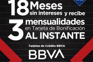 Black Friday 2019 Sams Club:  18 meses sin intereses y 3 de bonificación con BBVA Bancomer