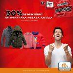 Buen Fin Chedraui 30% de descuento en ropa para toda la familia