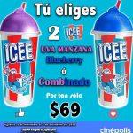 Promoción Cinépolis Disfruta 2 bebidas Icee por $69