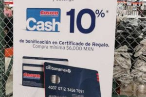 El Buen Fin 2019 Costco: 10% en tarjeta de regalo a msi con Citibanamex