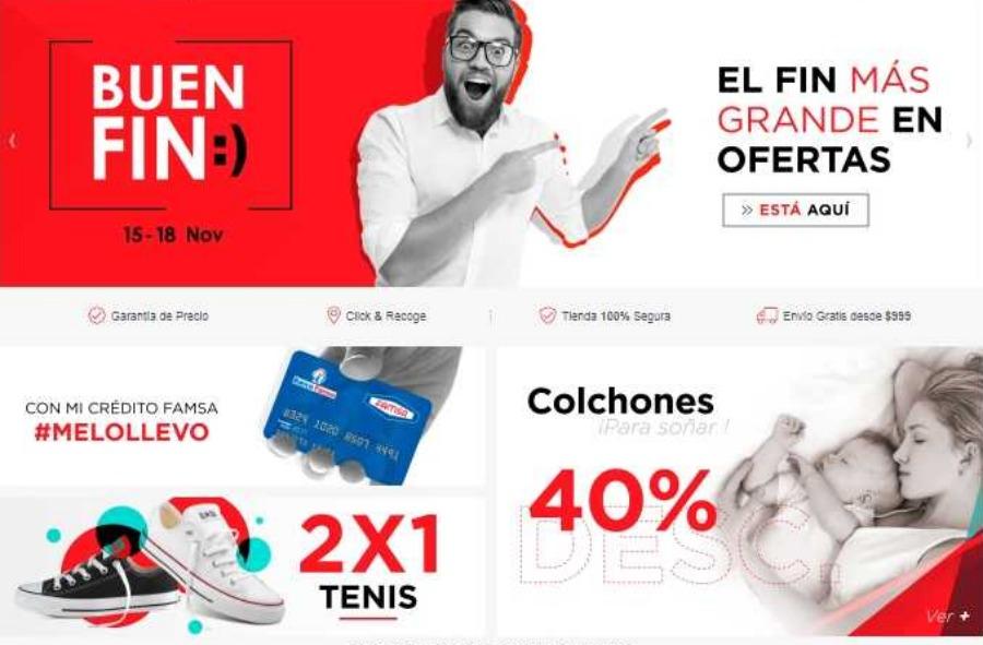 Ofertas del Buen Fin 2019 en Famsa: 2×1 en tenis