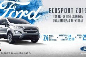 Ofertas del Buen Fin 2019 en Ford Ecos Port 2019 a 24MSI