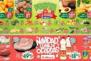 Frutas y Verduras S-Mart del 26 al 28 de noviembre de 2019