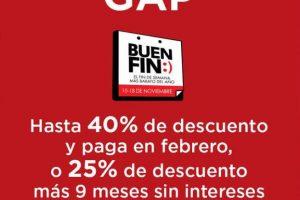GAP Buen Fin 2019: hasta 40% de descuento y 9 msi