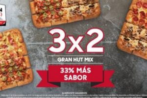 El Buen Fin 2019 en Pizza Hut 3x2 en Gran Hut Mix