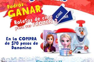 Promoción Danonino Gana boletos para la película Frozen 2 en Cinépolis