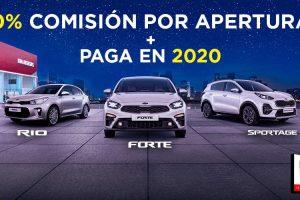 Promociones KIA Buen Fin 2019: 0% de comisión por apertura y paga en 2020