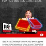 Promoción Santander Buen Fin 2019: Recibe 100 puntos recompensas por cada $100 de compra