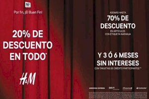 Rebajas H&M Buen Fin 2019: 20% de descuento en todo